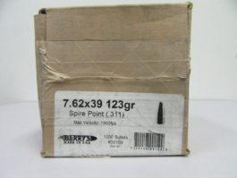 Berry's - 7.62x39(.311) 123gr BULLET PTD FLAT NOSE 1000/Box