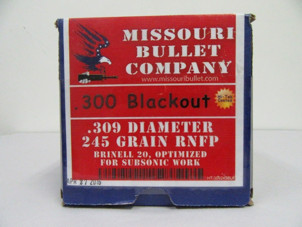 Missouri Bullet Co. - CAST 300 BLKOUT 245gr RNFP COATED 250/Box
