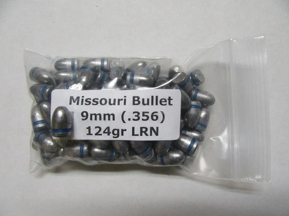 Missouri Bullet Co. - 9mm (.356) 124gr LEAD SMALLBALL 100/Bag