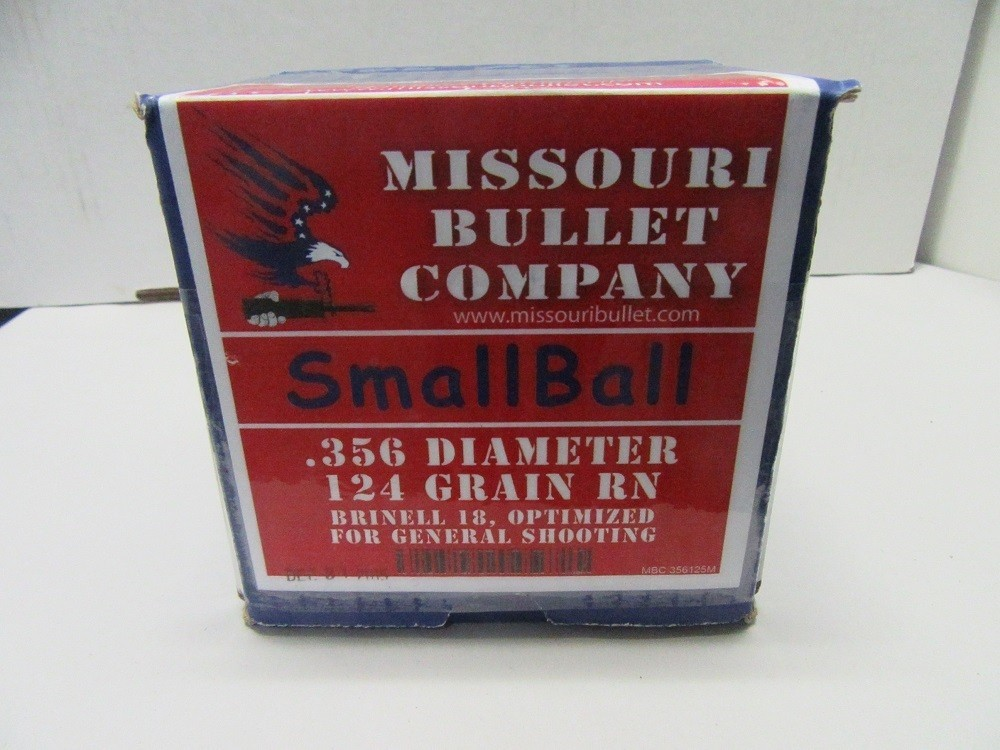Missouri Bullet Co. - 9mm (.356) 124gr LEAD SMALLBALL 500/Box