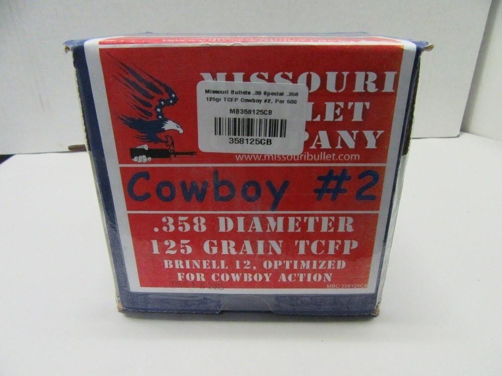Missouri Bullet Co - 38/357 (.358) 125gr Lead Bullet TCFP #2 500/Box