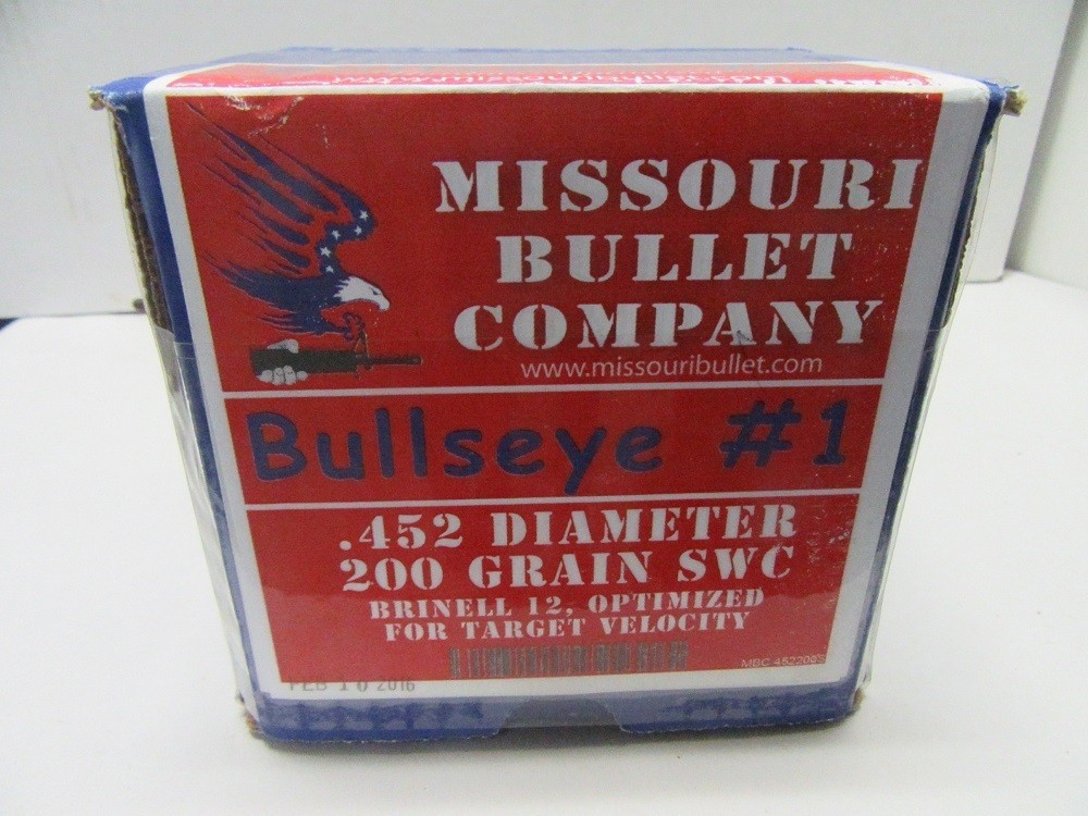 Missouri Bullet Co  - 45 Cal (.452) LEAD 200gr LSWC #1 500/Box