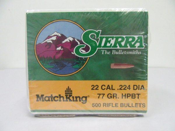 Sierra - 22(.224) 77gr HPBT BULLET MATCHKING 500/box