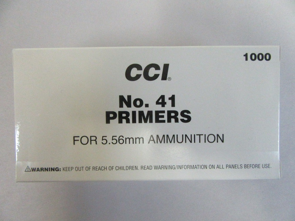 CCI - #41 NATO SPEC SMALL RIFLE PRIMERS 1000/box