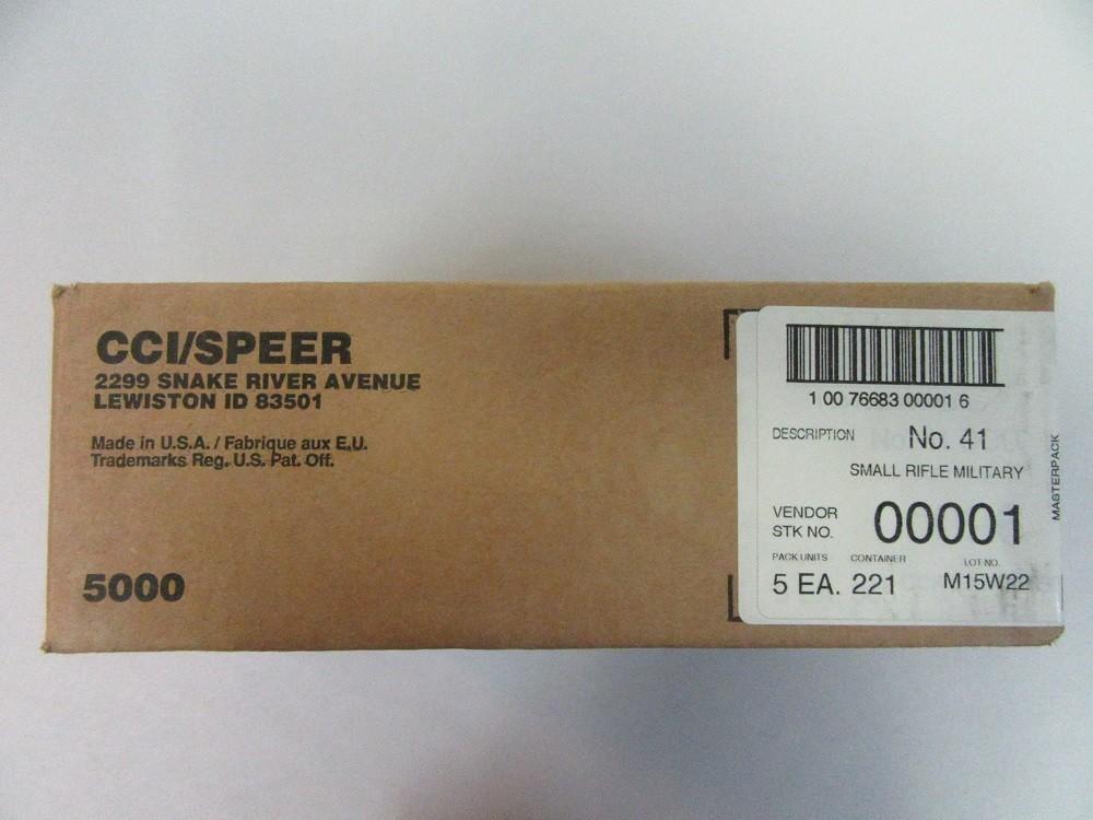 CCI - #41 NATO SPEC SMALL RIFLE PRIMERS 5000/BULK CASE