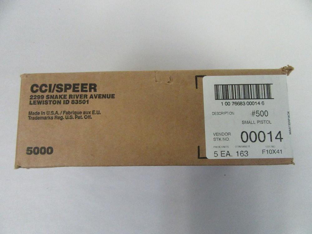 CCI - PRIMER #500 SMALL PISTOL 5000/BULK CASE