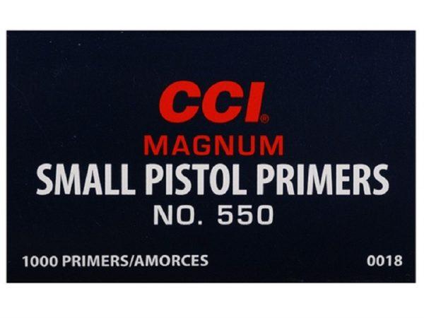 CCI - PRIMER #550 SMALL PISTOL MAG 1000/box