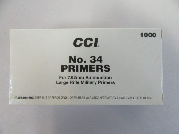 CCI - PRIMER M34 7.62mm NATO-SPEC 1000/box
