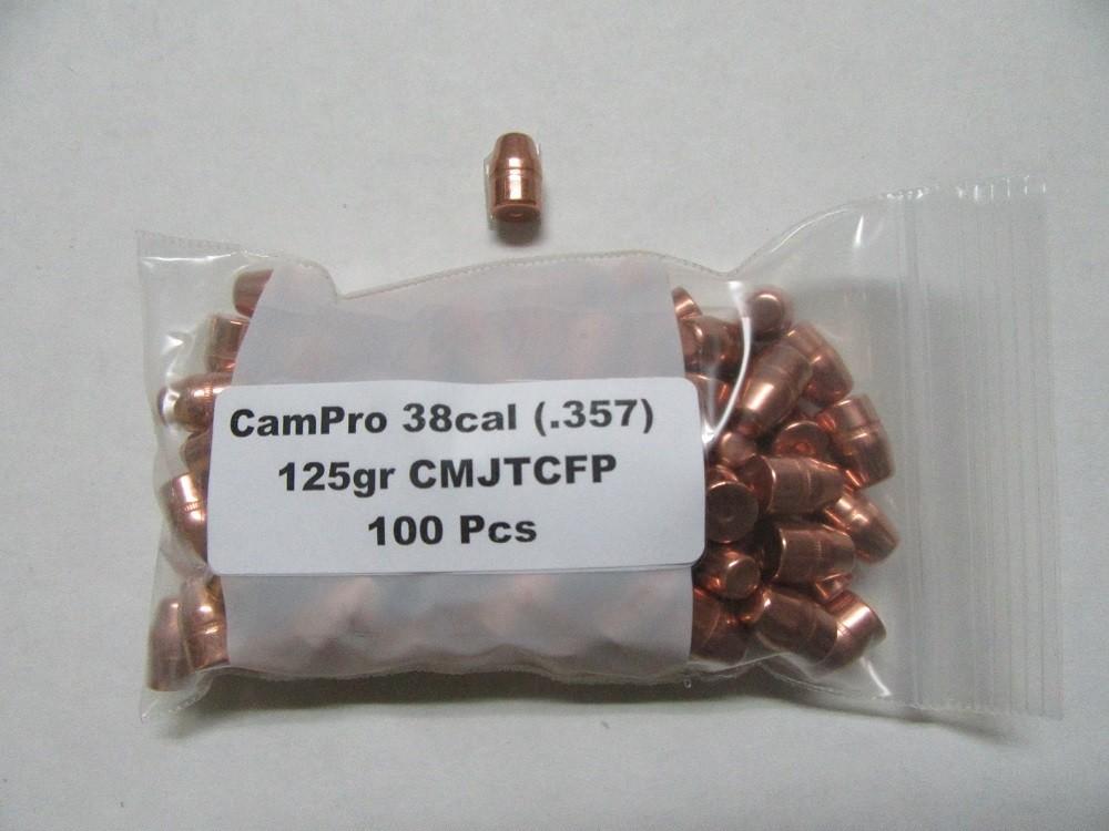 CamPro - 38/357 Cal (.357) 125gr Trunc Cone /100 Bag
