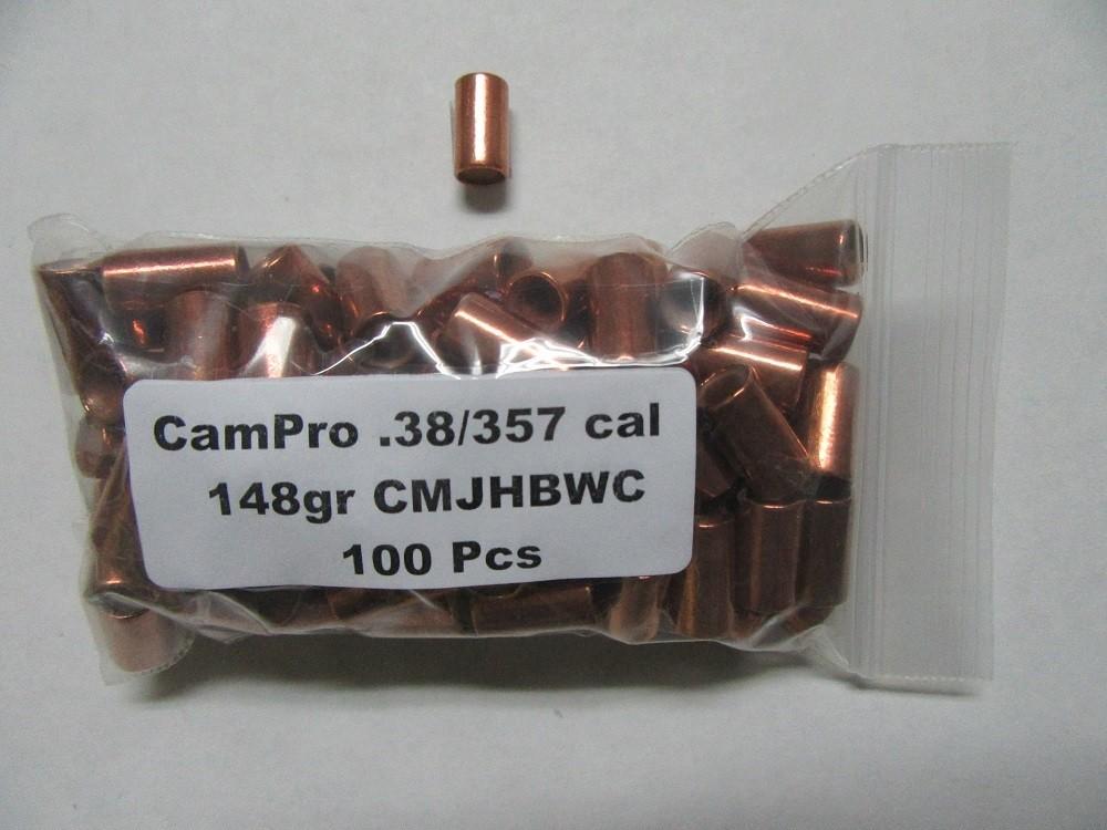 CamPro - 38/357 Cal (.357) 148gr Plated HBWC /100 Bag