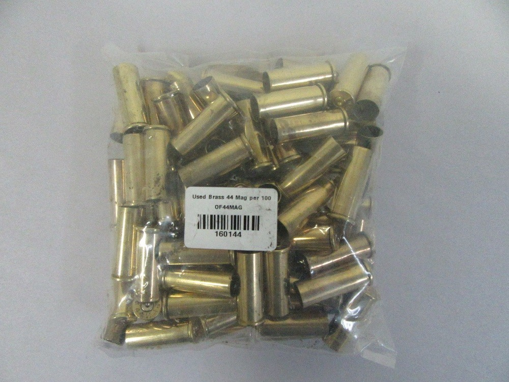 Semi Polished -  Mixed Headstamp 1Fired .44 MAG Brass cases100/bag
