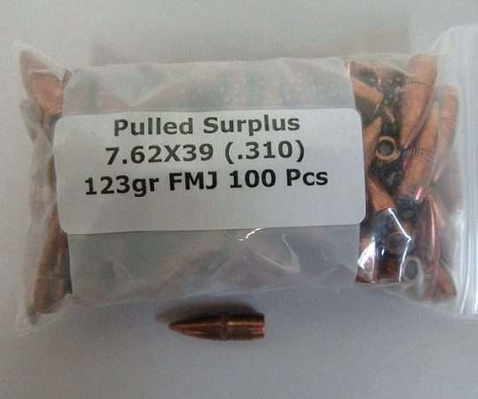 Pulled 7.62X39 Bullets