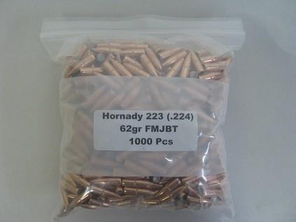 Hornady 62gr FMJBT 1K