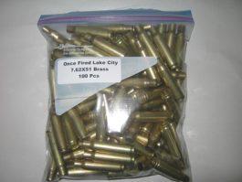 Lake City 7.62x51 Brass